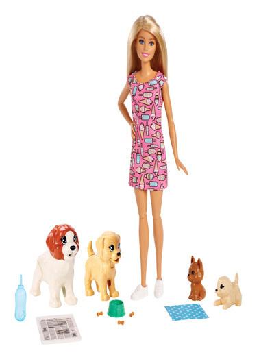 Barbie Barbie'nin Sürpriz Özellikli Hayvanları Oyun Seti FXH08 Renkli